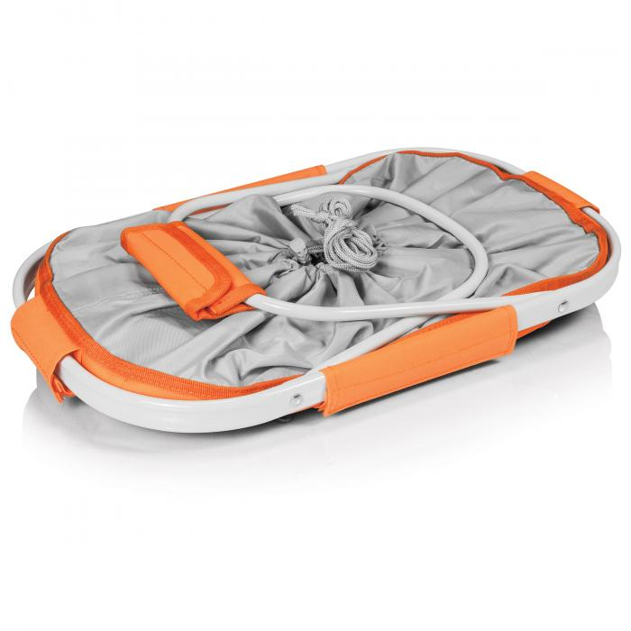 Picnic Time Metro Waterproof Polyester Canvas Empty Picnic Basket, Orange