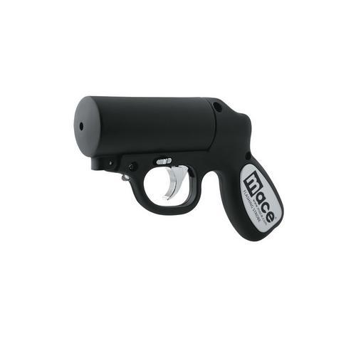 Mace Security International Matte Black Pepper Gun w/Strobe LED
