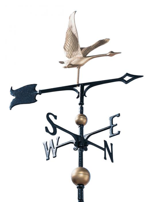 "30"" Full-Bodied Goose Weathervane - Gold-Bronze"