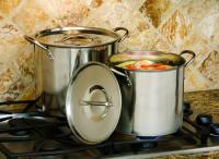 Cook Pro 8-Quart and 12-Quart Stainless Steel Stock Pots With Lids