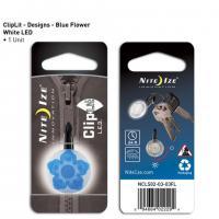 Nite-ize Clip Lit Blue Flower