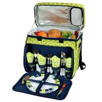 Picnic at Ascot Picnic Cooler for 4 - Trellis Green