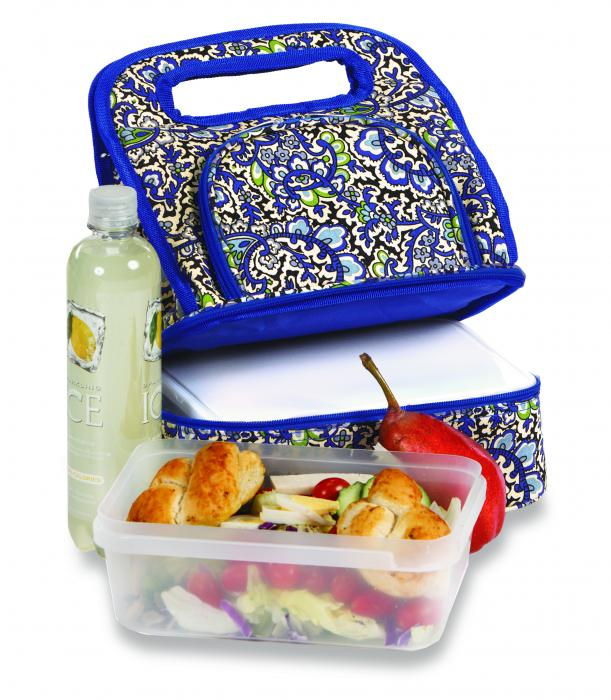 Picnic Plus Savoy Lunch Tote With Storage Container English Paisley