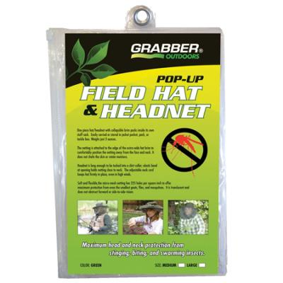 Grabber Pop Up Hat/Head Net Medium Green