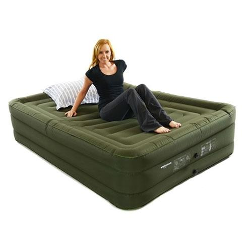 Smart Air Beds Ultra Tough Queen Size Raised Air Bed with Rechargeable Pump (BD-3324FCB)
