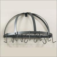 "Old Dutch 22"" x 11.5"" Graphite Pot Rack with Grid & 12 Hooks"