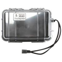 Pelican Products Micro Case Clear, Black, 7.5 x 5.06 x 2.13