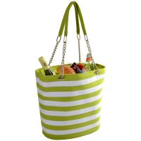 Picnic at Ascot Insulated Fashion Cooler Bag - 22 Can Tote - Apple Stripe