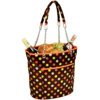 Picnic at Ascot Large Insulated Fashion Cooler Bag - 22 Can Tote - Julia Dot