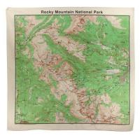 The Printed Image Rocky Mountain Topographical Bandana