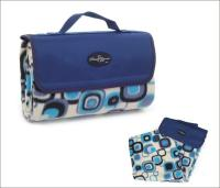 "Picnic & Beyond Blue Colorful  Fleece Picnic Blanket, 59"" x 53"""