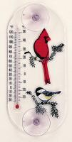 Aspects Cardinal/Chickadee Original Window Thermometer