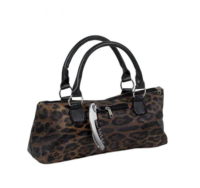 Primeware Single Bottle Wine Clutch - Cougar Safari