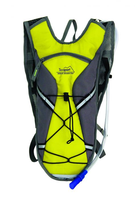 Texsport Brazos Hydration Pack, 2 Liter, Vibrant Yellow/Gray