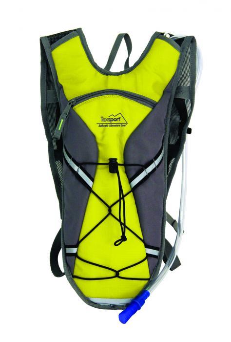 Texsport Brazos Hydration Pack, 2 Liter, Vibrant Yellow/Gray
