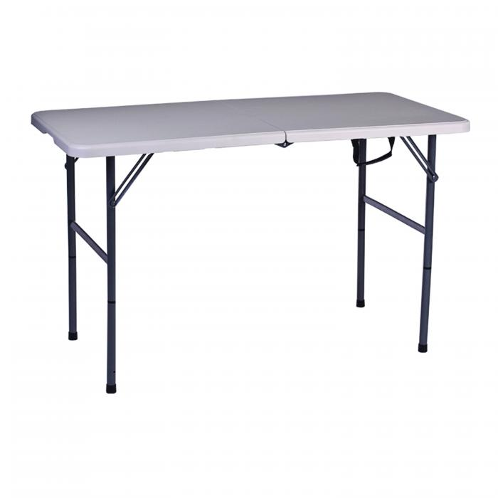 Stansport Folding Table With Adjustable Legs - White