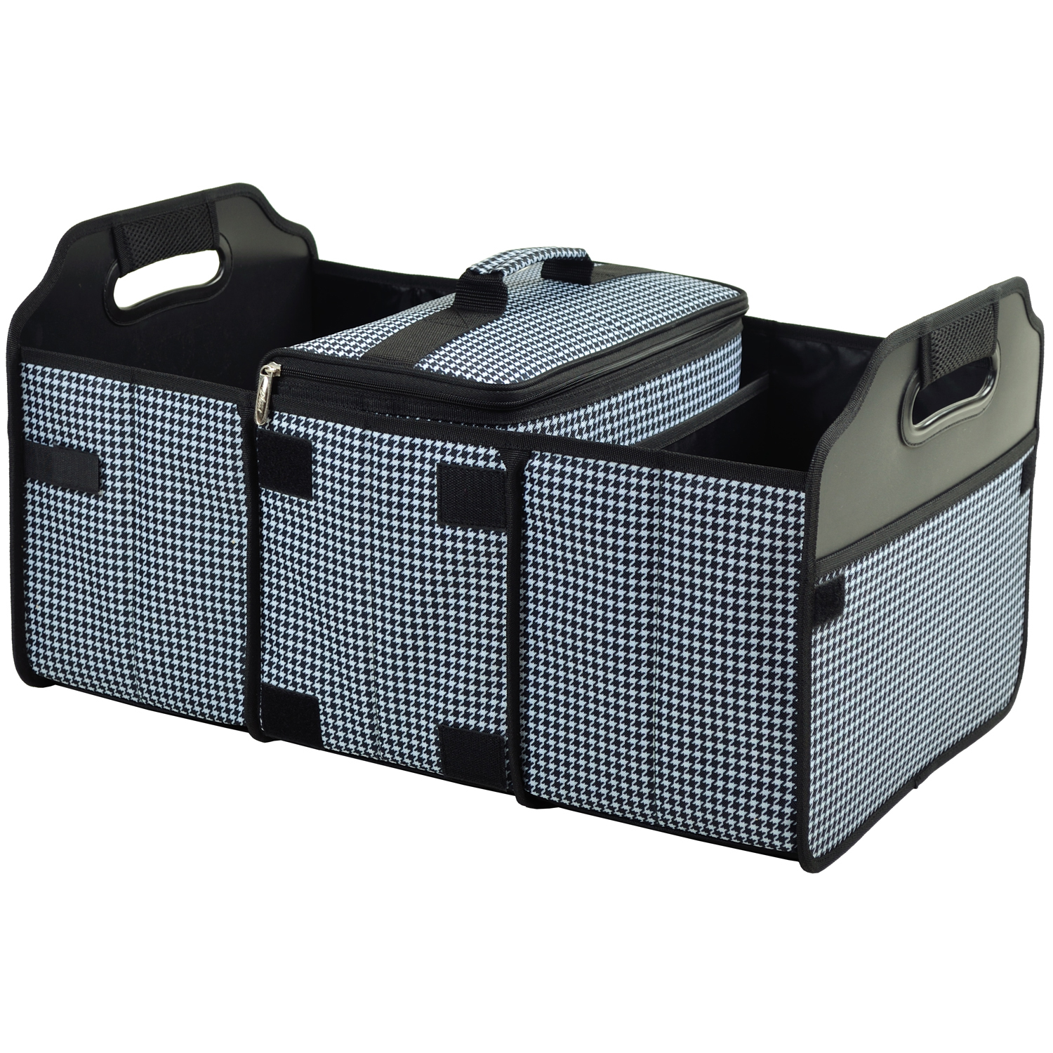 Picnic At Ascot Trunk Organizer And Cooler Set Houndstooth