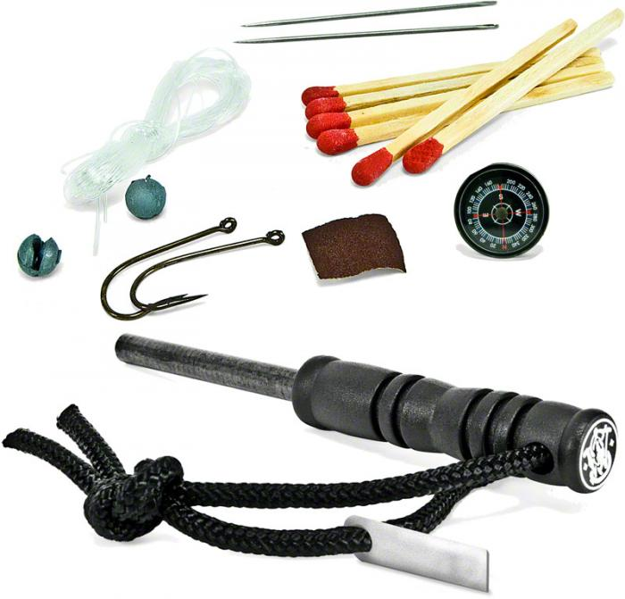 Smith & Wesson SWFS1 Fire Striker with Survival Kit