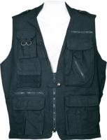 Humvee Safari Vest - Black, Medium