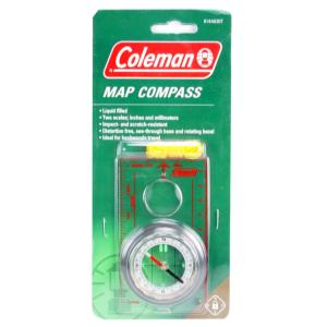 Coleman Map Compass, Liquid Filled, Impact & Scratch Resistant