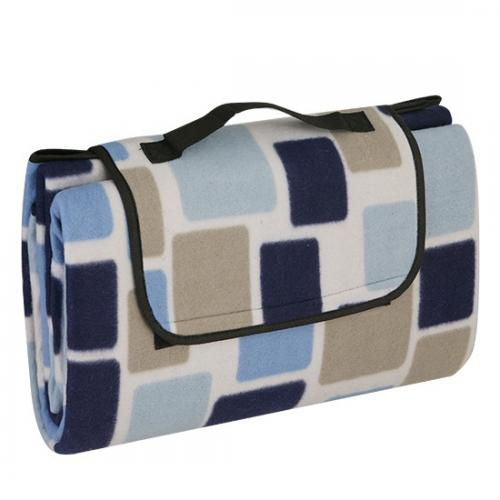 "Picnic & Beyond Blue Colorful  Fleece Picnic Blanket, 59"" x 79"""