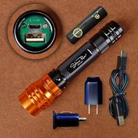 Stone River Adjustable Focus Rechargeable USB LED Flashlight