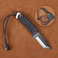 Stone River Black Ceramic Neck Knife - Tanto