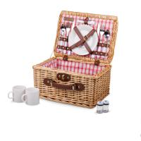 Picnic Time Catalina Basket - Red & White Plaid