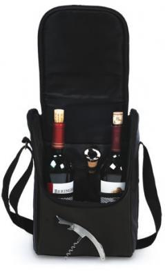 Picnic Plus Double Bottle Wine Carrier - Espresso