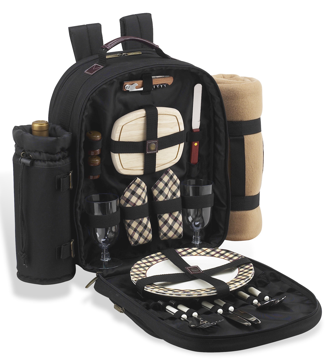 Picnic Basket Backpack Two : Picnic at ascot deluxe equipped person backpack