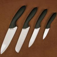 Stone River 4pc Ceramic Santoku/Parer Chef Set