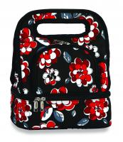 Picnic Plus Savoy Lunch Tote with Storage Container - Red Carnation