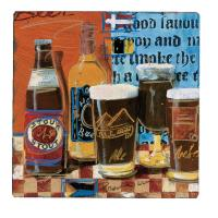Counter Art Beer & Ale Tumbled Tile Coasters Set of 4
