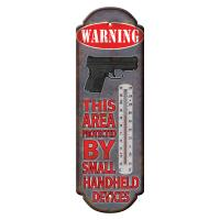 Warning Hand Held Device Tin Thermometer