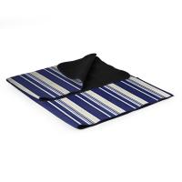 Picnic Time ONIVA Blanket Tote Outdoor Picnic Blanket (Blue Stripe Pattern with Navy Flap)