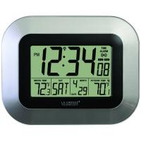 La Crosse Technology WS-8115U-S Atomic Digital Wall Clock With Indoor & Outdoor Temperature