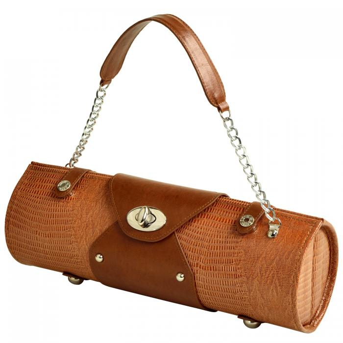 Picnic at Ascot Wine Carrier & Purse - Lizard