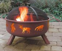 Landmann Big Sky Wildlife Fire Pit, Georgia Clay Color