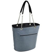 Picnic at Ascot Large Insulated Fashion Cooler Bag - 22 Can Tote - Houndstooth
