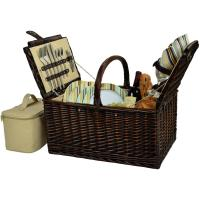 Picnic at Ascot Buckingham Willow Picnic Basket with Service for 4 - Santa Cruz