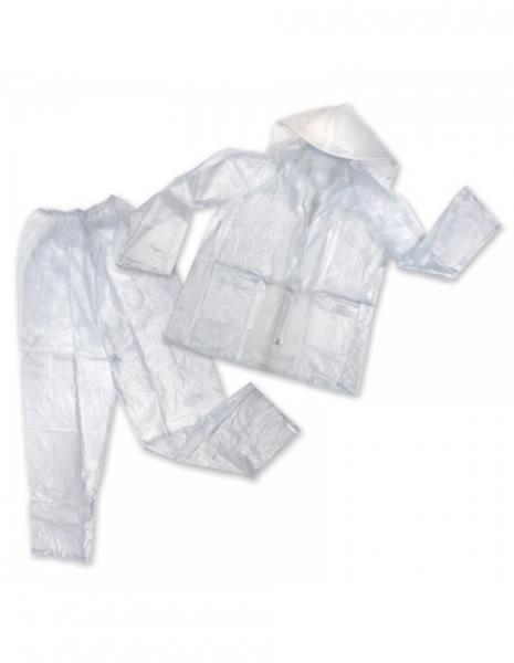 Stansport Mens Vinyl Rainsuit - Clear - L