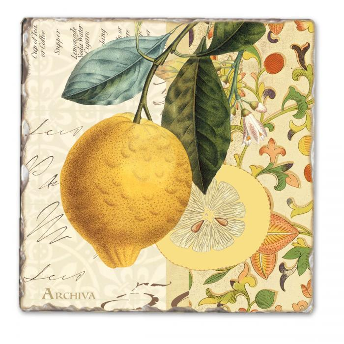 Counter Art Mandarin Single Tumbled Tile Coaster