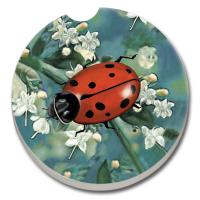 Counter Art Ladybug Car Coaster