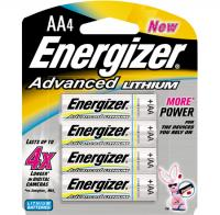 Energizer Advanced Lithium AA Batteries, 4 Pack