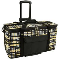 Picnic at Ascot Extra large Hybrid Semi-Rigid Folding Cooler with Wheels- Paris