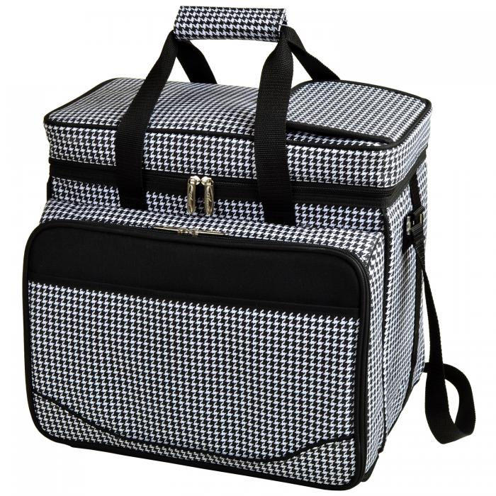 Deluxe Picnic Cooler for 4 - Houndstooth