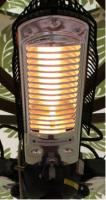 Fire Sense 3 x 500 Watt Power Umbrella Halogen Patio Heater, Indoor Or Outdoor Use