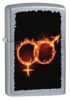 Man Woman Fire, Street Chrome Zippo Lighter