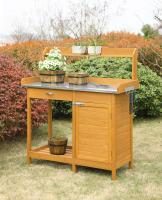 Convenience Concepts  Deluxe Potting Bench with Cabinet (Light Oak)