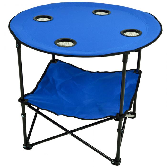 Picnic at Ascot Travel Folding Table for Picnics and Tailgating - Royal Blue